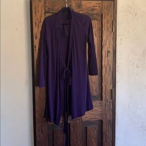A purple light coat